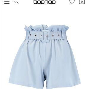 Powder blue shorts
